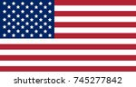 national flag of united states... | Shutterstock .eps vector #745277842