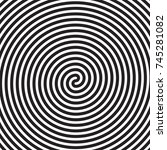 hypnotic circles abstract... | Shutterstock .eps vector #745281082