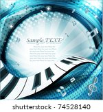 music background | Shutterstock .eps vector #74528140