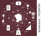 illustration of business... | Shutterstock .eps vector #745284706