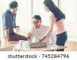 entrepreneurs business people... | Shutterstock . vector #745284796