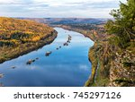 view of the vishera river from... | Shutterstock . vector #745297126