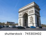paris  france   april 13  2015  ... | Shutterstock . vector #745303402