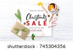 beautiful banner for christmas... | Shutterstock .eps vector #745304356