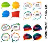 infographic design with light... | Shutterstock .eps vector #745309135