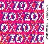 abstract vector seamless...   Shutterstock .eps vector #745309678