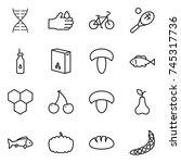 thin line icon set   dna  acid  ... | Shutterstock .eps vector #745317736