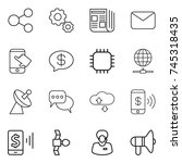 thin line icon set   share ... | Shutterstock .eps vector #745318435