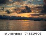 sunrise at  cairns  queensland  ... | Shutterstock . vector #745319908