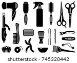 tools and materials for a... | Shutterstock .eps vector #745320442