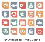icons of various kinds of food... | Shutterstock .eps vector #745324846