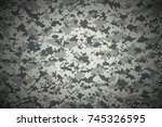 texture military camouflage... | Shutterstock .eps vector #745326595