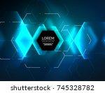 digital techno abstract... | Shutterstock .eps vector #745328782