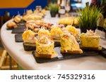 tapas typical spanish bilbao... | Shutterstock . vector #745329316
