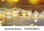 christmas decoration and... | Shutterstock . vector #745333822