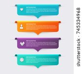 vector colorful info graphics... | Shutterstock .eps vector #745334968