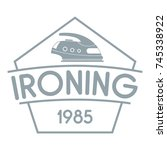 ironing logo. simple... | Shutterstock .eps vector #745338922