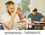 education  high school  digital ... | Shutterstock . vector #745343572
