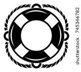 lifebuoy icon. simple...   Shutterstock .eps vector #745346782