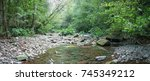 mountain river in the forest.... | Shutterstock . vector #745349212