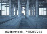abstract white and concrete... | Shutterstock . vector #745353298
