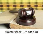 gavel | Shutterstock . vector #74535550