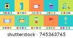 home appliances vector image... | Shutterstock .eps vector #745363765