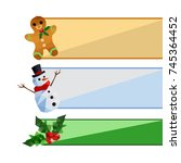 collection of origami christmas ... | Shutterstock . vector #745364452