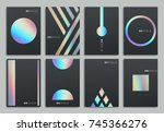 brochure template design. set... | Shutterstock .eps vector #745366276