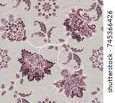 seamless pattern. brilliant... | Shutterstock . vector #745366426
