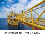 offshore oil and gas central... | Shutterstock . vector #745371292