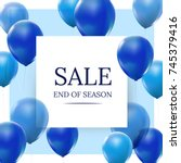 Sale  End Of Season With Blue...