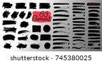 collection of black paint  ink... | Shutterstock .eps vector #745380025
