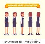 woman character design. front ... | Shutterstock .eps vector #745394842