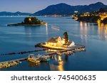 corfu greece vlachernon... | Shutterstock . vector #745400635
