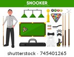 snooker billiards sport... | Shutterstock .eps vector #745401265