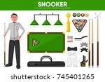 snooker billiards sport... | Shutterstock .eps vector #745401265