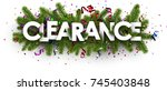 festive clearance banner with... | Shutterstock .eps vector #745403848