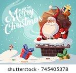 christmas card design template...   Shutterstock .eps vector #745405378