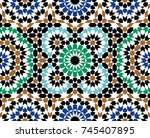 morocco seamless pattern.... | Shutterstock .eps vector #745407895
