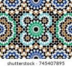 morocco seamless pattern.... | Shutterstock .eps vector #745407895