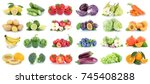 fruits and vegetables... | Shutterstock . vector #745408288