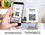 qr code payment   online... | Shutterstock . vector #745408822