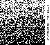 pixel abstract technology... | Shutterstock .eps vector #745418176