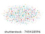 colorful bright rainbow colors... | Shutterstock .eps vector #745418596