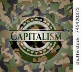 capitalism written on a... | Shutterstock .eps vector #745420372