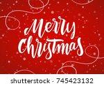 vector illustration  merry... | Shutterstock .eps vector #745423132