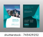 annual report brochure layout... | Shutterstock .eps vector #745429252
