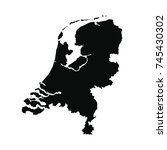 vector map netherlands.... | Shutterstock .eps vector #745430302