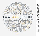 law and justice concept in... | Shutterstock .eps vector #745441585
